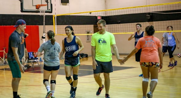 Photo of a Jacksonville volleyball league