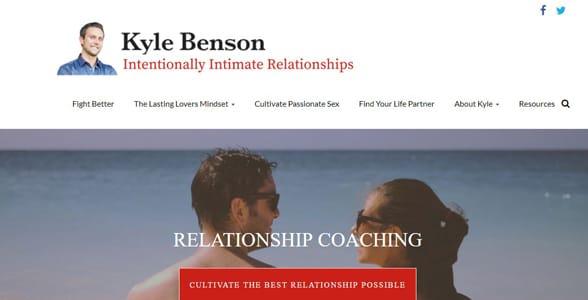 Screenshot of Kyle Benson's website