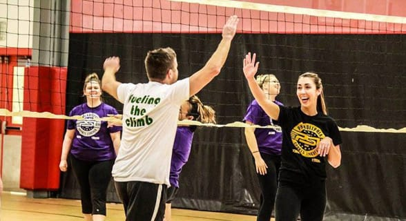 Photo of a Philly volleyball league