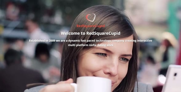 Screenshot of RedSquareCupid's website