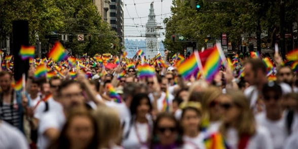 Photo of a San Francisco Pride parade