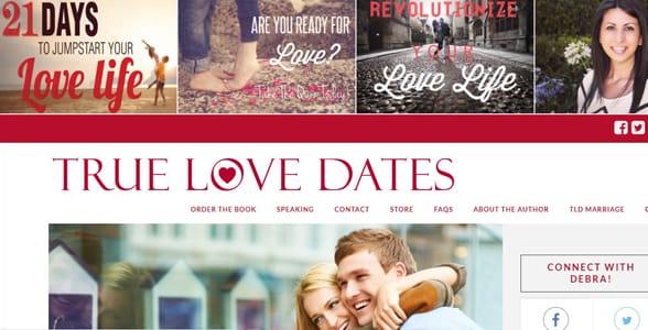 Screenshot of TrueLoveDates homepage