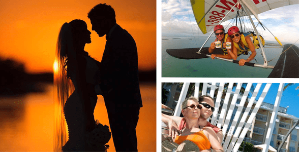 Collage of couples enjoying the Florida Keys