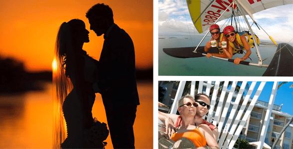 Collage of couples enjoying the Florida Keys