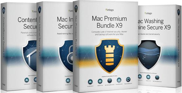 Photo of product boxes of Intego's Mac Premium Bundle