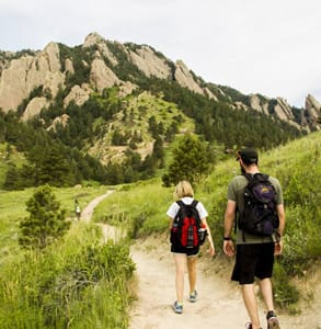 Photo of two people hiking in Colorado