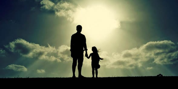 Photo of a father and child