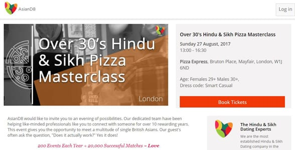 Screenshot of a Pizza Masterclass event page