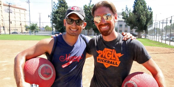 Photo of a kickball league