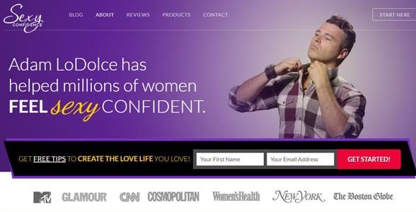 Screenshot of SexyConfidence.com