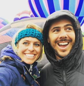 Photo of Mike Keshian, Founder and CEO of LuvByrd, and his girlfriend Kelly