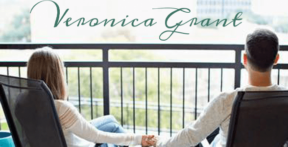 Photo of a couple holding hands and the Veronica Grant logo