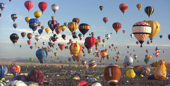 Photo of the Albuquerque International Balloon Festival