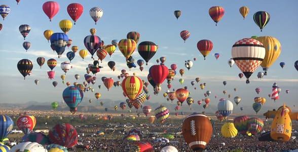 Photo of the Albuquerque International Balloon Festival