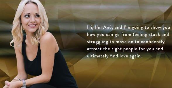 Screenshot of Ané Auret's homepage