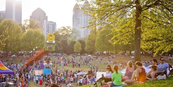 Photo of a festival in Atlanta