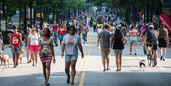 Photo of an Atlanta Streets Alive event