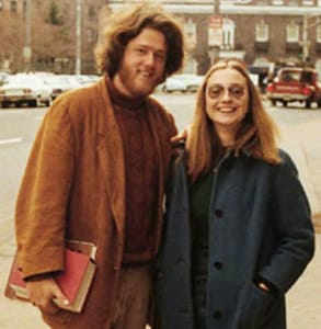Photo of Bill and HiIlary Clinton in their 20s