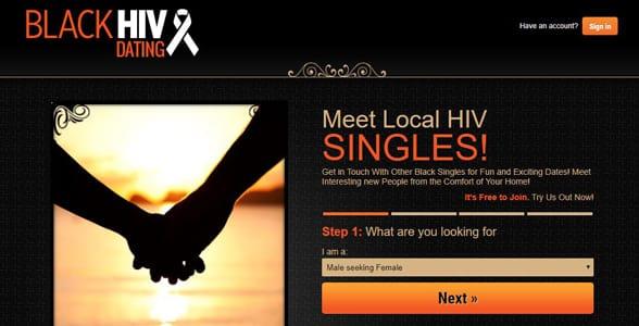 Screenshot of BlackHIVDating
