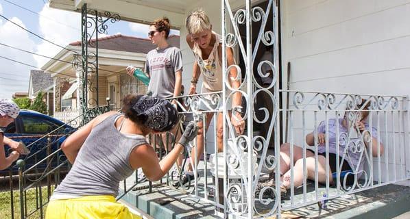 Photo of people volunteering in New Orleans
