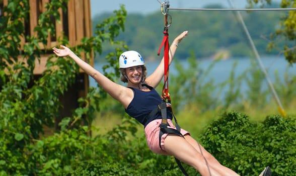 Photo of the zipline at Lake Overholser