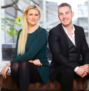 Photo of Rena and Feargal Harrington, Founders of Intro