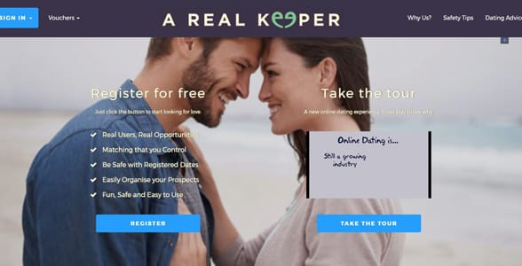 Screenshot of ARealKeeper.ie