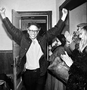 Photo of Bernie Sanders when he was elected mayor of Burlington