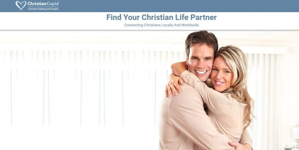 Screenshot of the ChristianCupid homepage