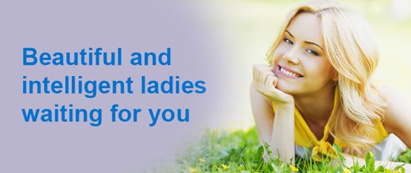 Photo of a woman and the text beautiful and intelligent ladies waiting for you