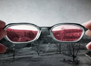 Photo of rose-colored glasses