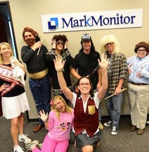 Photo of MarkMonitor's office and employees