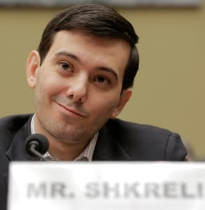 Photo of Martin Shkreli, former hedge fund manager and convicted felon