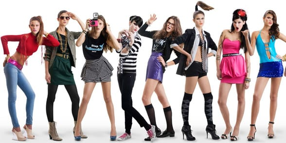 Horny women in short skirts