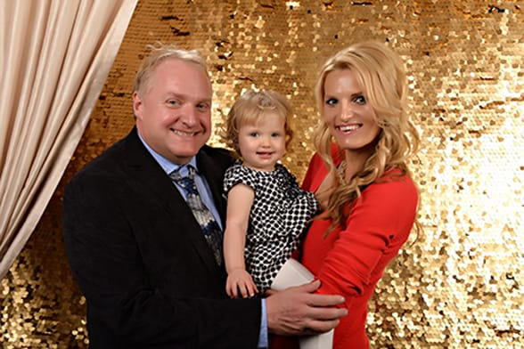 Photo of Rodney, Jitka, and their daughter