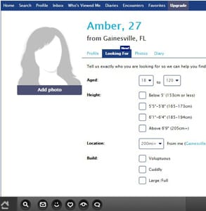 Screenshot of OverweightDate.com's homepage