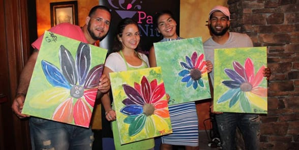 Photo of a Paint Nite event