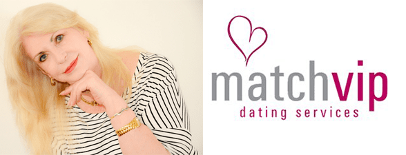 Shannon Davidoff's headshot and the MatchVIP logo