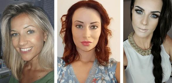 Collage of Eastern European Matchmaker women profiles