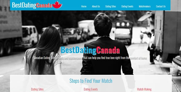 Screenshot of Best Dating Canada's homepage