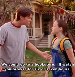 Photo of Rory and Dean from Gilmore Girls