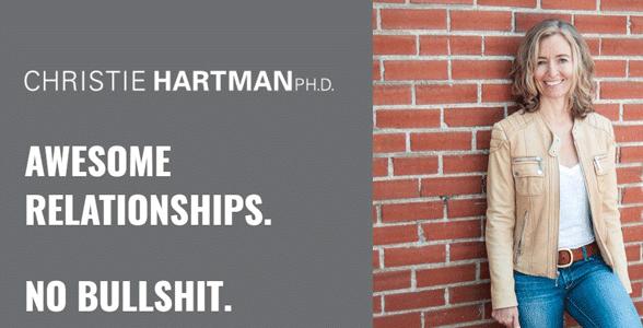 Screenshot of Dr. Christie Hartman's website