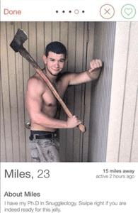 Screenshot of a Tinder profile