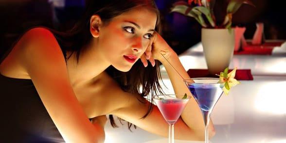 Photo of a woman at a bar