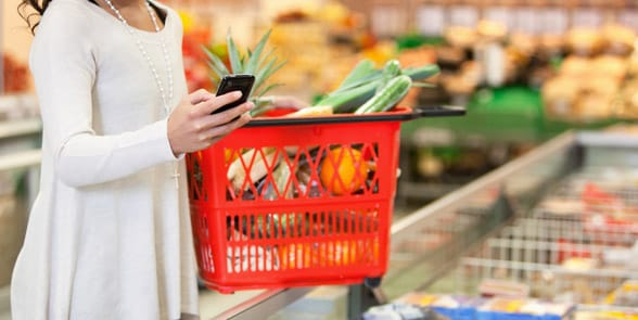 Photo of a woman grocery shopping