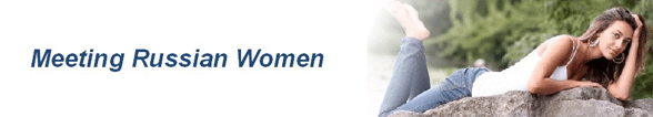 The Meeting Russian Women logo and a photo of a woman