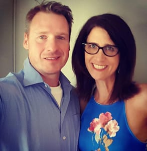 Photo of Jaimy Blazynski, aka The Date Doctor, and her second husband