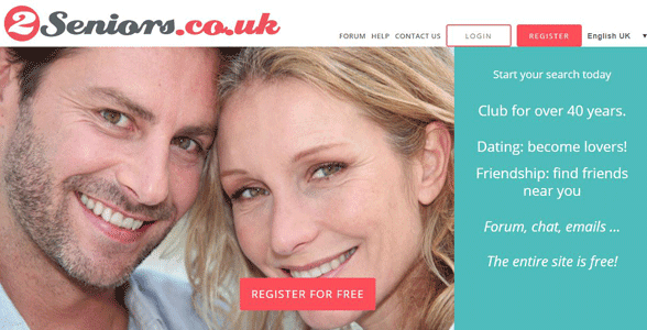 Screenshot of 2Seniors.co.uk's homepage
