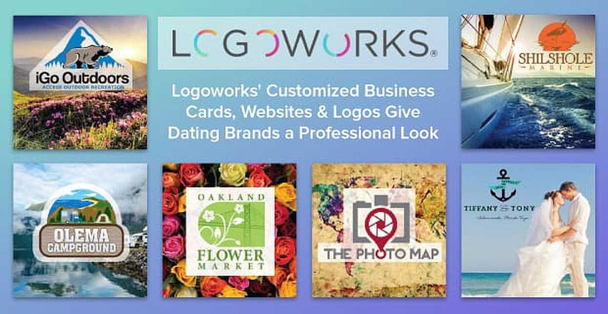 Logoworks' Customized Business Cards, Websites & Logos Give Dating Brands a Professional Look