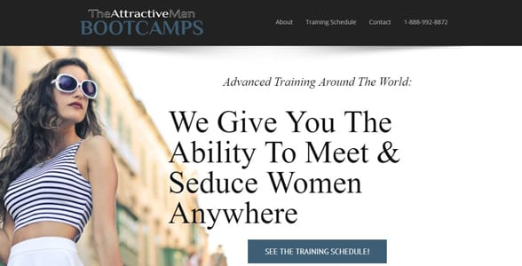 Screenshot of The Attractive Man's website
